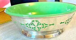 Art Deco - Glass And Sterling Silver Bowl - Mappin And Webb - Sheffield - 1937