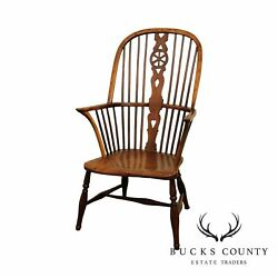 Antique 19th Century English Yew Wood Windsor Chair