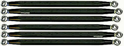 Modquad Black Hex Rear Radius Rods For Can-am X3 2017 64 Ds Ca-rr-x3ds-hex