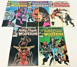Lot Of 1984 Kitty Pryde And Wolverine Marvel Comics 1-4 6 Comic Books