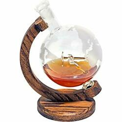 Globe Whiskey Decanter - Pilot Gifts Men And Women Who Love Bourbon Wine And Liqu...