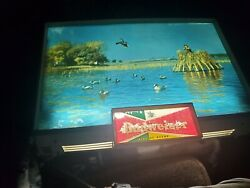 Vintage Budweiser Lighted Bar Beer Sign Rare Antique Duck Hunting Neon 50s 60s