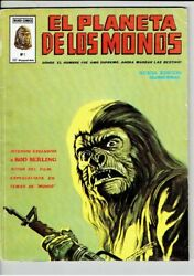 Planet Of The Apes 1 Spain's 1st Print 1979 Bandw Magazine Size 98 Pag In Spanish
