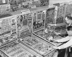 Bingo Pinball Machines And Gumball Coin-op Classic 8 By 10 Reprint Photograph