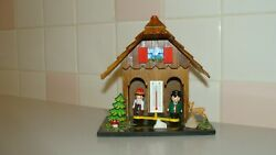 Adorable German Wood Hand Carved Weather Thermometer House Germany Souvenir