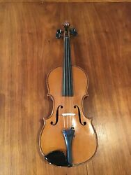 1912 Eduard Reichert 3/4 Size Violin Made In Dresden Germanyready To Play.