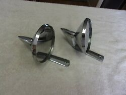 Vintage Set Of Ford Mirrors 17743-a 1960s Galaxie Fairlane Rat Rod Hot Rod