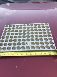 Vintage Chocolate / Candy Mold Tray Large 96 Molds Antique Heavy Metal