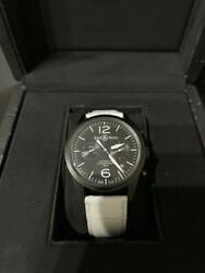 Bell And Ross Br-126-original Carbon Vintage Automatic Menand039s Watch Box And Paper
