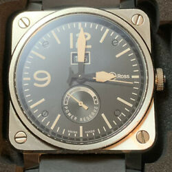 Bell And Ross Br03-90 Reserve De Marche Grande Date Power Reserve Mens Box And Paper