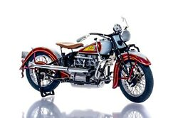 Danbury/franklin Mint 110 1938 Indian Four Motorcycle Classic Model Boxed Rare