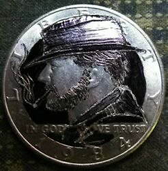 Hobo nickel hand carved Kennedy as Clint Eastwood by Jamp;M Tarantula $19.98