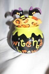 Cracker Barrel Masquerade Party Candy Dish Witch's Brew Halloween Ceramic Bowl