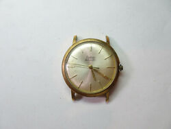 Zodiac Hermetic 17 Jewel Cal 60 Vintage Gp Watch Runs And Stops For Restoration