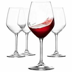 Paksh Novelty Italian Red Wine Glasses - 18 Ounce - Wine Glass Clear Set Of 4