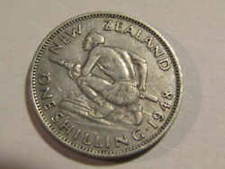 New Zealand 1948 1 Shilling Coin