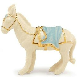 Lenox First Blessing Nativity Donkey Figurine Standing Blue Saddle Pad Rare New