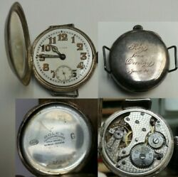 Rolex Wristwatch Low Case Number 569 1922-23 Engraved Jan 1924 7 Worlds Records