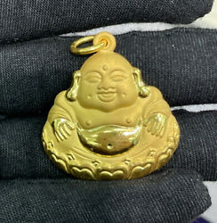Pure 24k Solid Gold Big 3d Happy / Lucky Buddha Charm/ Pendant 24.05 Grams