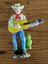 1930s Hubley Cowboy Playing Guitar Cast Iron Figural Bottle Opener