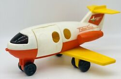 Vintage Fisher Price Airplane 1980 Toy Plane Plastic Made Usa 2502 Quaker Oats