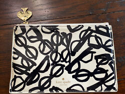 KATE SPADE Cosmetic Organizer Pouch Clutch LITERARY GLASSES New Without Tags $26.60