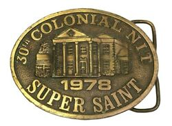 Colonial Nit Super Saint Belt Buckle Golf Tournament 1978 Made By Levi Strauss