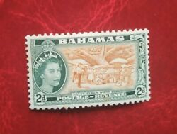 Bahamas Qe11 Postage Stamp Used 2d Mint Hinged