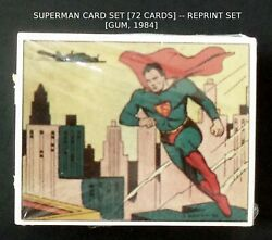 Superman Cards Set [gum] -- 1940and039s Reprint Set S 1-72 -- New Factory Sealed