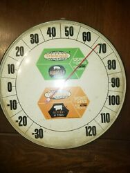 Vintage Tramisol Feed Seed Farm 12 Round Thermometer