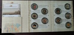 Fascination Of Egypt Sterling Silver 92.5 Proof Full Set Royal Canadian Mint