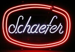 New Schaefer Beer Neon Light Sign 20x16 Cave Gift Lamp Real Glass Tube Display