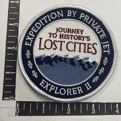 Vtg Journey Lost Cities Expedition By Private Jet Explorer Ii Plane Patch 00x8