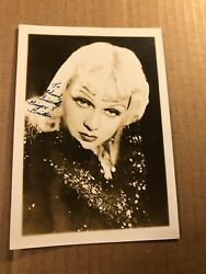 Ginger Britton Extremely Rare Very Early Autographed Photo 30s Burlesque Souls