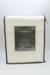 800 Thread Count Solid Sheet Set - Threshold Signature Queens Size White Color