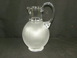 Authentic Lalique Crystal Langeais Cristal Glass Pitcher Cheapest On Ebay Today
