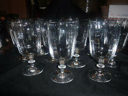 """Sl Southern Living Crystal """"gallery Collection"""" 10 Iced Tea Glasses. Optic.disc."""