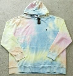Polo Tie Dye Pullover Sweatshirt Mens Hoodie Big And Tall 3xlt New
