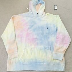 Polo Tie Dye Pullover Sweatshirt Mens Hoodie Big And Tall 4xlt New