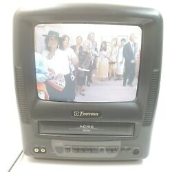 Vintage Emerson Ewc-0902 Analog Gaming 9 Tv Television W/ Built-in Vcr Tested
