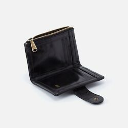 *NWT* Hobo International Black Leather Ray Bifold Wallet MSRP $98 $43.00