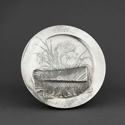 Rare Gorham Trompe Land039oeil Solid Sterling Silver Card Tray. 1884
