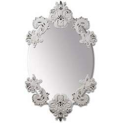 Lladro Oval Mirror Without Frame White Silver 01007769