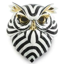 Lladro Owl Mask Black And Gold 01009406