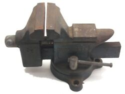 Sears Bench Rotating Swivel 3 1/2 Jaw Anvil Pipe Vise No 506.51770 Usa Used