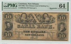 1840s 10 Louisiana New Orleans Canal And Banking Co Pmg Ch64
