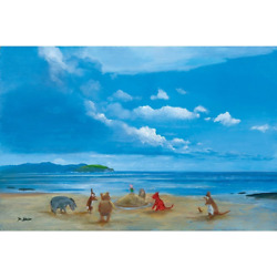 Disney Fine Art - Pooh And Friends At The Seaside