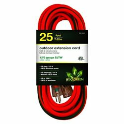 Gogreen Power Gg-14025 - 12/3 25and039 Sjtw Outdoor Extension Cord - Lighted End
