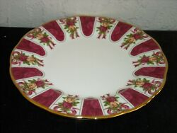 Royal Albert Old Country Roses Ruby Celebration Ruby Damask Salad Plate