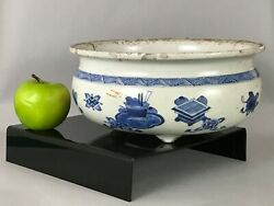 A Large Chinese Kangxi Period 1662-1722 Blue And White Incense Burner Censer